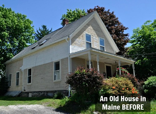 old house in Maine exterior before remodel