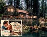 Leave Her to Heaven cabin exterior and movie poster inset