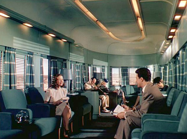 Leave Her to Heaven scene on the train