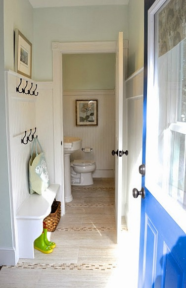 New mudroom and powder room