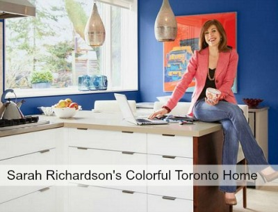 Taupe No More: Sarah Richardson's Colorful House