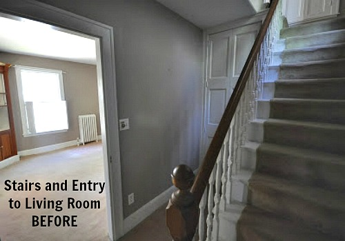 Staircase entry BEFORE