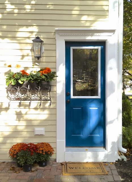 blue back door SoPo Cottage