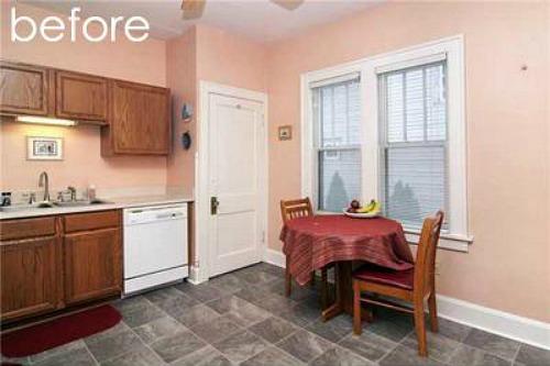 bungalow kitchen corner BEFORE