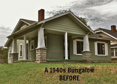Gather & Build 1940s Bungalow BEFORE