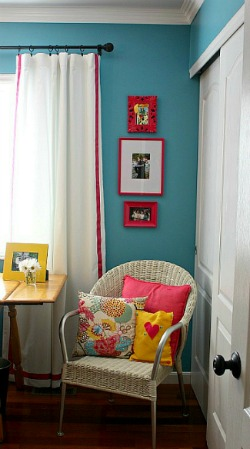 Seasong Blue from Valspar in my home office