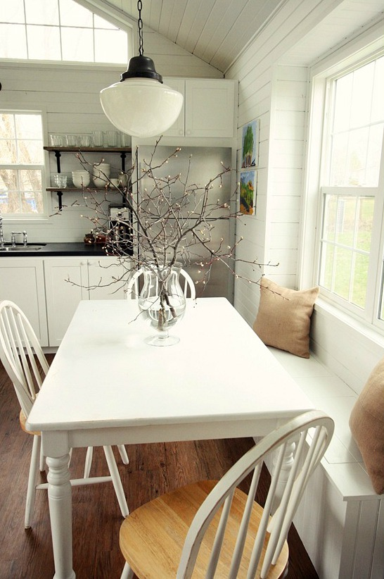 Learning to love living with less in a little house for Eating tables for small spaces