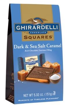 Ghiradelli dark chocolate with sea salt caramel
