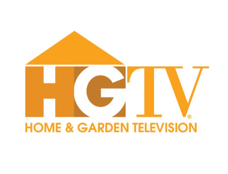 HGTV Home and Garden Television logo in yellow and white