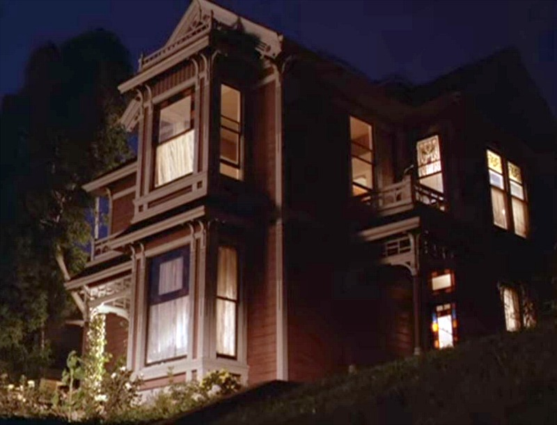 Halliwell Manor on Charmed House at Night