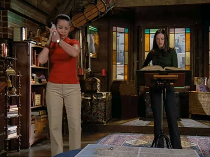 Piper and Paige in the attic on Charmed