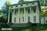 Classic Greek Revival house exterior before remodel