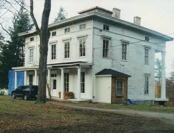 Saxton Hall restored Greek Revival side of house BEFORE