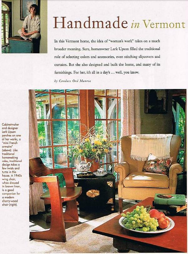 Lark Upson's Handmade Cottage in BHG spread
