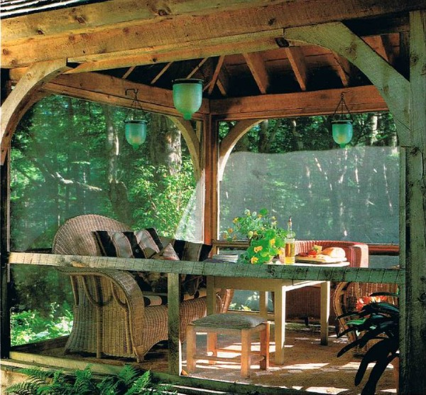 Lark Upson's Vermont Cottage in BHG screened porch