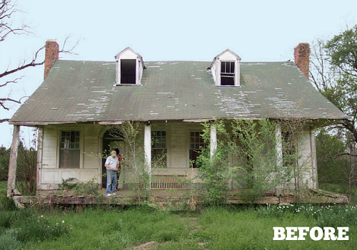 Reviving an old plantation house in mississippi hooked Small cottage renovation ideas