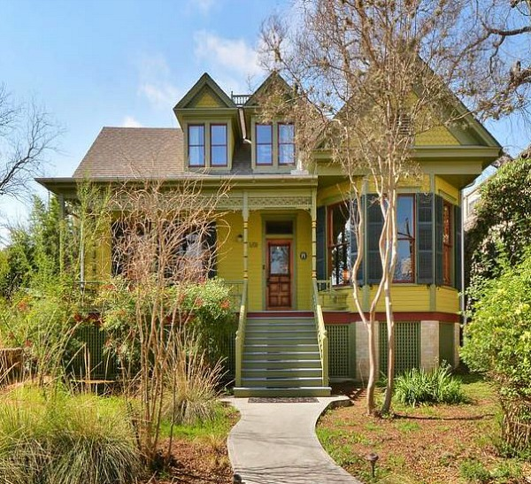 Painted Queen Anne Cottage For Sale Austin TX