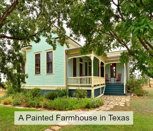 Painted Queen Anne Farmhouse Texas