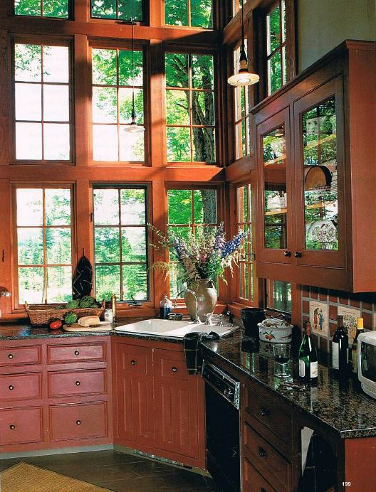 Vermont cottage in BHG 98 two-story kitchen