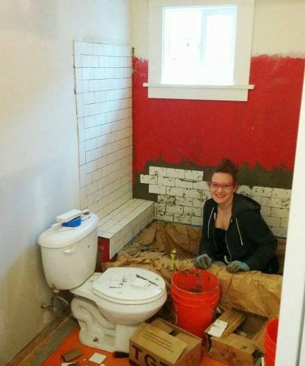 Sarah remodeling her bathroom