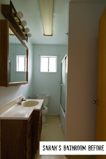 How sarah made her small bungalow bath look bigger for Historic bathroom remodel