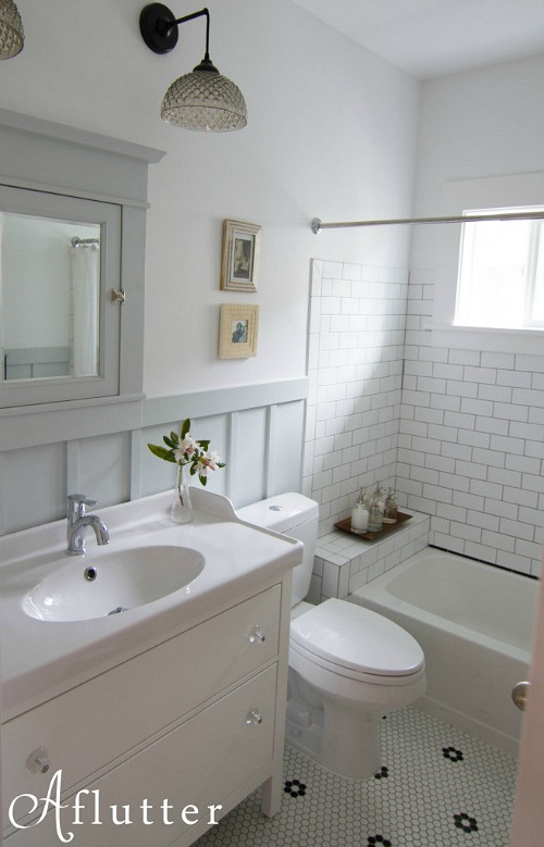 How sarah made her small bungalow bath look bigger for 1920s bathroom remodel ideas