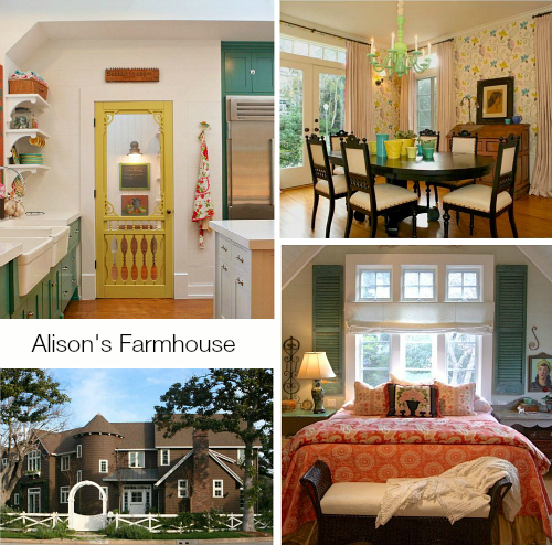 collage of photos taken of Alison Kandler's farmhouse