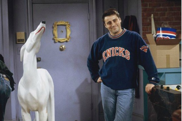 "Joey's dog statue named Pat on ""Friends"" 