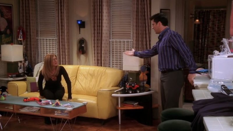 Joey's yellow leather sofa on Friends