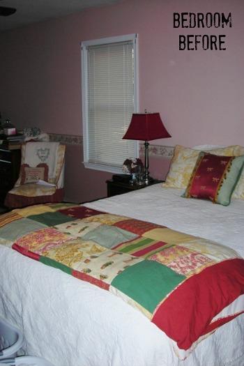 Miss Mustard Seed Marian's Bedroom BEFORE