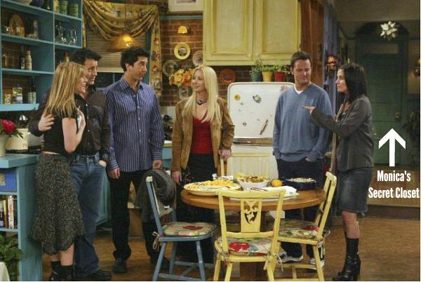 Monica's Secret Closet on TV Show Friends