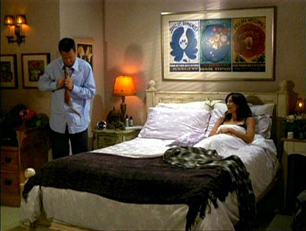 Monica's apartment bedroom on Friends flower poster