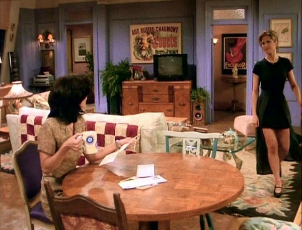 Monica's apartment on Friends with Rachel