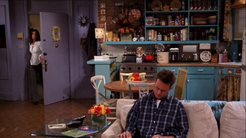 Monica's purple apartment on Friends yellow peephole