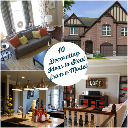 10 decorating ideas spotted in a model home hooked on houses for Home furnishing ideas