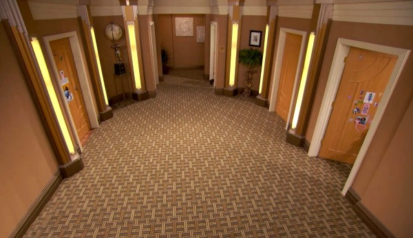 Bedroom Hallway on TV Show Jessie (1)