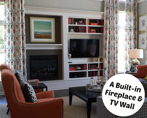 Fireplace and TV Wall in Model Home | hookedonhouses.net