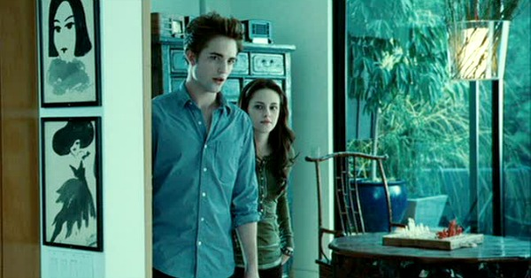 Edward and Bella in Cullen house