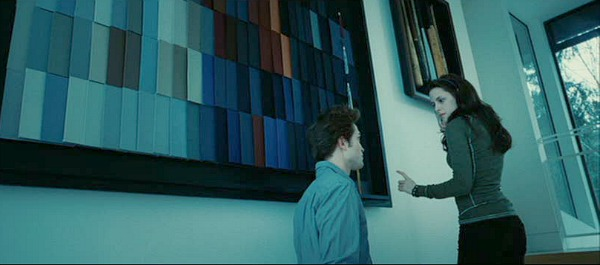 Edward and Bella on the staircase in Twilight