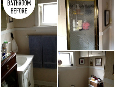 Emily Johnston's Bathroom Makeover BEFORE | hookedonhouses.net