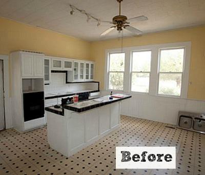 Living Vintage kitchen BEFORE