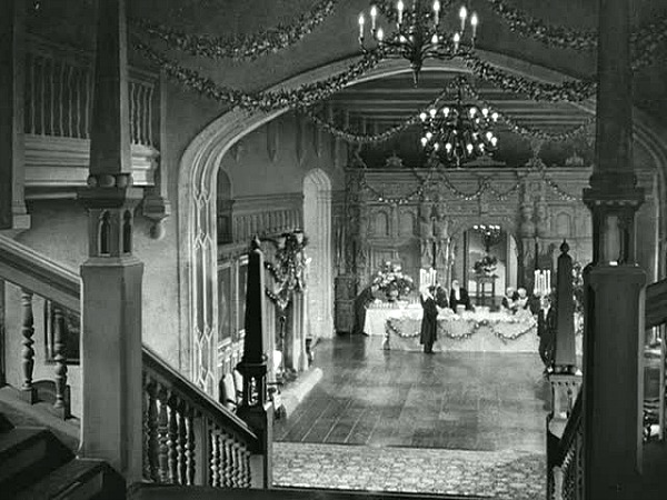 Manderley decorated for a ball in Rebecca