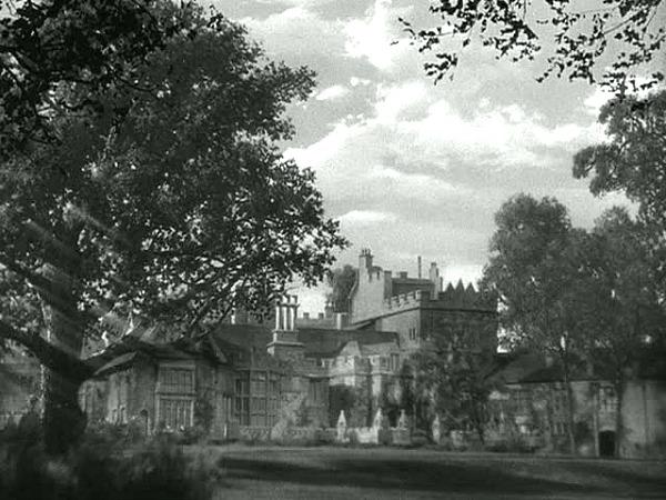 Manderley exterior in classic film Rebecca