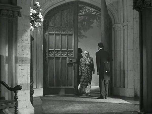 Manderley in classic film Rebecca-front doors