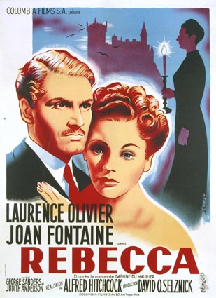 "Movie Poster from the Classic Film ""Rebecca"" 