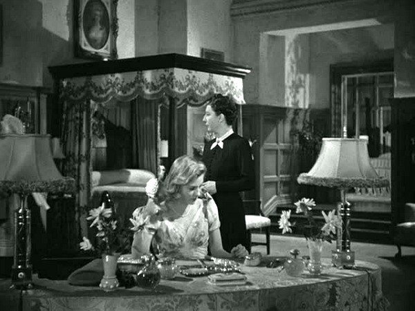 Mrs. De Winter's bedroom in the classic Rebecca