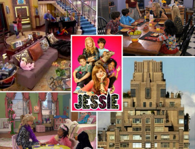 "The Fabulous Family Penthouse on the Disney Show ""Jessie"""
