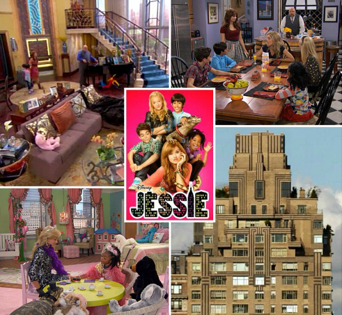 "Penthouse Set Design TV Show ""Jessie"" | hookedonhouses.net"
