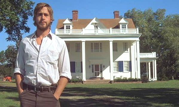 "Ryan Gosling as Noah in ""The Notebook""   hookedonhouses.net"