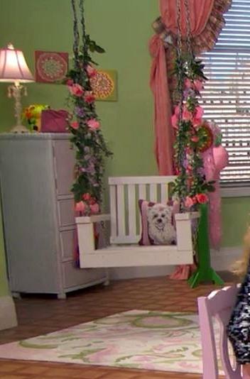 The Swing in Zuri's Bedroom on TV Show Jessie